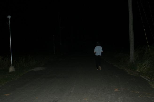 夜は出歩かない!
